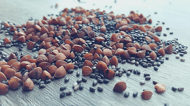 pile of seeds on the table