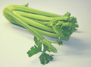 celery bunch on a white table