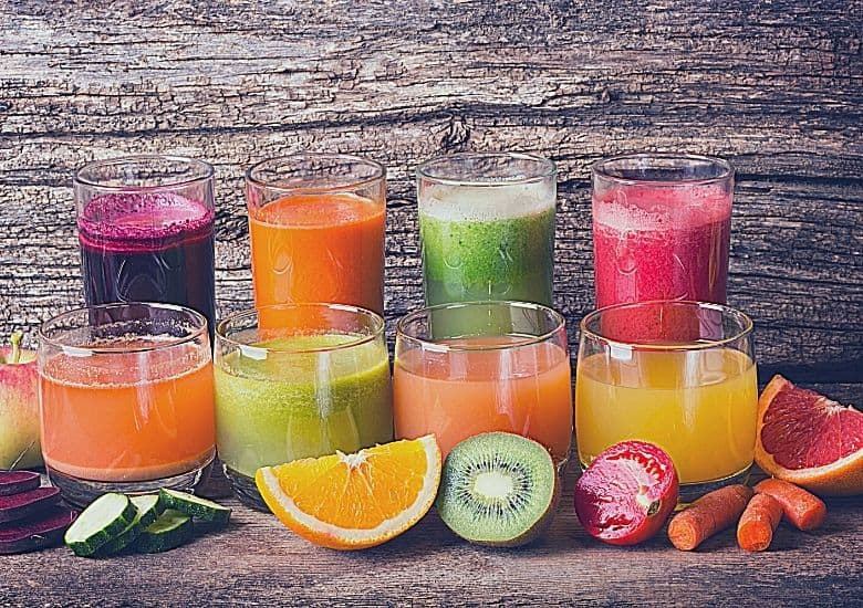 variety of juices