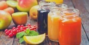 three jars of juice