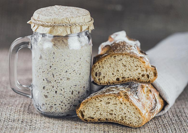 bread and sourdough starter