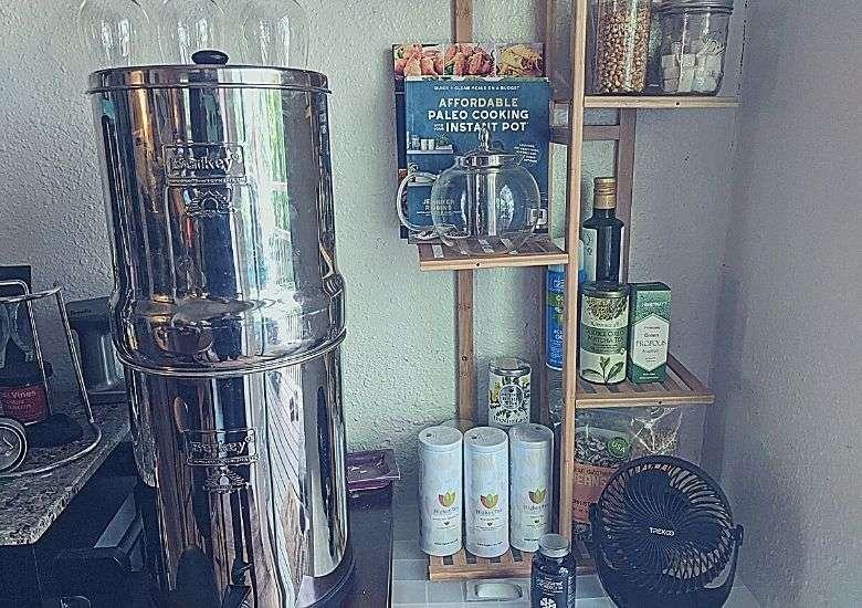 berkey water filter in my kitchen