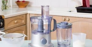 food processor and different attachments