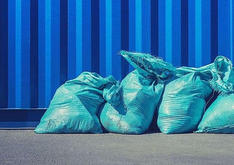 green garbage bads